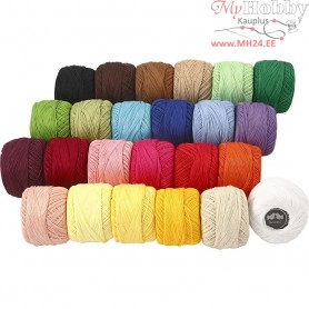Mercerized Cotton Yarn, asstd colours, 24x20g