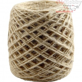 Natural Hemp, thickness 1-2 mm, natural, 150m