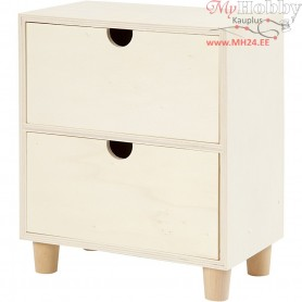 Chest of Drawers, H: 23 cm, W: 20 cm, plywood, 1pc, depth 11.5 cm
