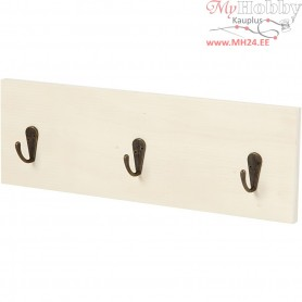 Coat Rack, H: 10 cm, L: 30 cm, plywood, 1pc, depth 1.2 cm