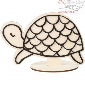 Decoration Figure, turtle, H: 10 cm, 1pc