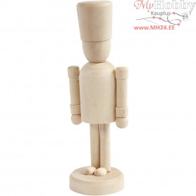 Figure, hat, H: 13 cm, birch, 1pc