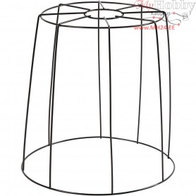 Lamp Shade, H: 20 cm, D: 15.5-20 cm, black, 1pc