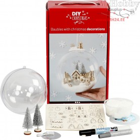 Kit for bauble with inner decoration, 1pc