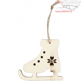 Ice Skate, H: 6.5 cm, W: 7.5 cm, plywood, 4pcs, depth 0.5 cm
