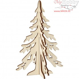 Christmas Tree, H: 20 cm, W: 13 cm, plywood, 1pc