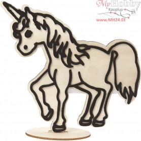 Decoration Figure, unicorn, H: 19 cm, 1pc