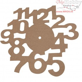 Face Dial, D: 30 cm, MDF, 1pc, thickness 3 mm