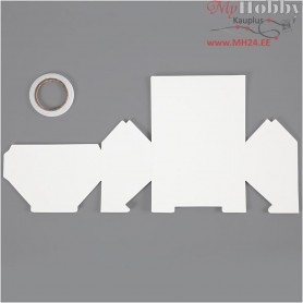 House, Bungalow, size 12x6.5x7.5 cm,  230 g, white, 8pcs, 230 g