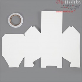 House, two-floor house, size 8x6.5x11.5 cm,  230 g, white, 8pcs
