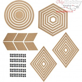 Wall Decorations, H: 5.5-29.5 cm, 10sets