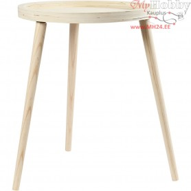Tray table , H: 48 cm, D: 40 cm, plywood, 1pc