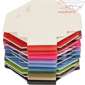 Colorful Folding boxes, size 5.5x5.5 cm,  250 g, 100mixed