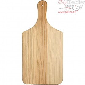 Cutting Board, L: 28 cm, W: 14 cm, pine, 1pc, thickness 0,9 cm