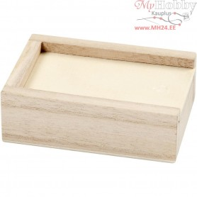 Box, size 9x6x3 cm, inner size 7,4x4,4x2 cm, empress wood, 1pc
