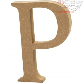 Letter, P, H: 13 cm, thickness 2 cm, MDF, 1pc