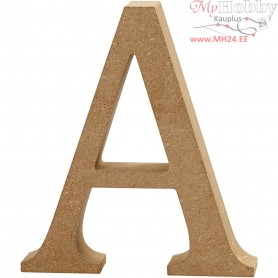 Letter, A, H: 13 cm, thickness 2 cm, MDF, 1pc