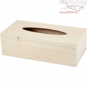 Tissue Box Holder, size 27x14x8 cm, paulownia, 1pc