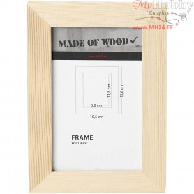 Frame With Glass, size 10,5x15,6 cm, carving: 6,8x11,8 cm, empress wood, 1pc