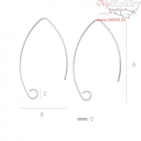 Sterling Silver Ear wire marquise