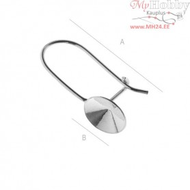Sterling Silver Closed ear wire setting for Rivoli 1122 - 10MM