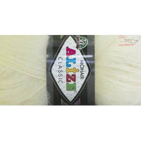 Yarn Alize Mohair Classic 100gr. - color # 1