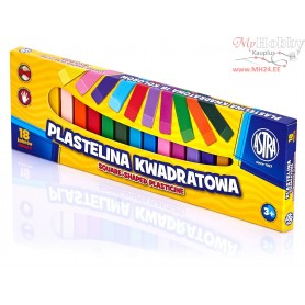 Plasticine ASTRA square sticks 18 colors
