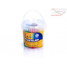 Plasticine ASTRA in a bucket 6 colors
