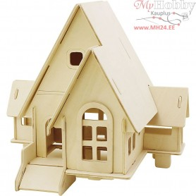 Wood Construction Kit - 3D  House with ramp
