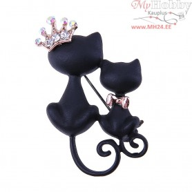 "Broche ""Black Cats"""
