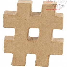 Hash Symboll, #, H: 10 cm, thickness 1,7 cm, 1pc