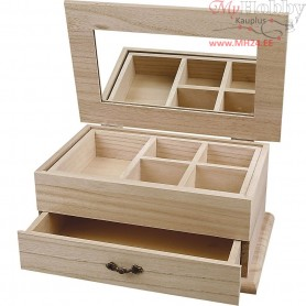 Jewellery Box, size 27x17x12 cm, paulownia, 1pc