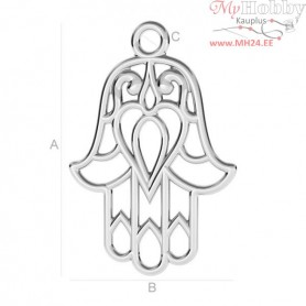 Silver Findings 925 - Hamsa pendant, ODL-00120