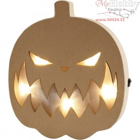 Pumpkin Light, H: 25 cm, W: 22 cm, 1pc, depth 4 cm