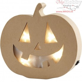 Pumpkin Light, H: 20 cm, W: 22 cm, 1pc, depth 4 cm
