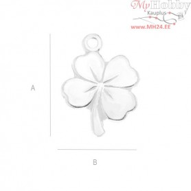 Silver Findings 925 - Clover pendant - S-CHARM 10