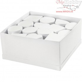 Boxes, D: 10-12 cm, H: 5 cm, white, 27pcs