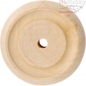 Wheel, D: 31x10 mm, thickness 10 mm, china berry, 8pcs, hole size 3 mm