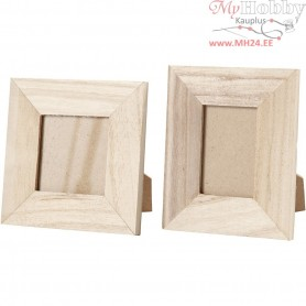 Frames, W: 9+10 cm, H: 10+11 cm, empress wood, 2pcs