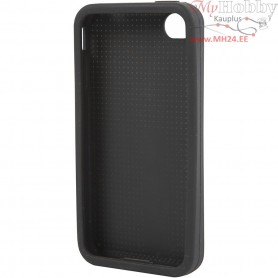 Mobile Phone Cover To Embroider, 4/4S, size 11,8x2,4 cm, thickness 4,3 mm, black, 1pc