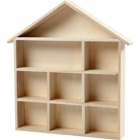 "House-Shaped Shelving System""MyHobby"" (26x25.2 cm )"