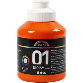 Acrylic Paint - orange, glossy, 500ml