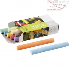 Chalkboard Chalk, L: 8 cm, D: 10 mm, asstd colours, 10pcs
