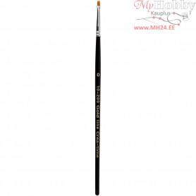 Gold Line Brushes, size 0 , W: 2 mm, flat, 12pcs