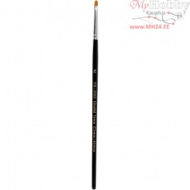 Gold Line Brushes, size 2 , W: 3 mm, flat, 12pcs