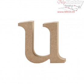 Letter, u, H: 8,5 cm, thickness 2 cm, MDF, 1pc