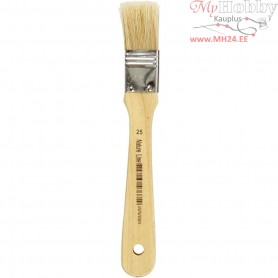 Varnish Brushes, W: 25 mm, 12pcs