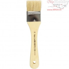 Varnish Brushes, W: 35 mm, 12pcs