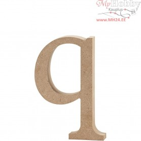 Letter, q, H: 12,2 cm, thickness 2 cm, MDF, 1pc