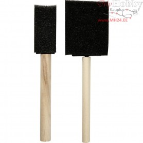 Foam Brushes, W: 25+50 mm, 2mixed